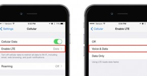 Enable voLTE on iPhone 6
